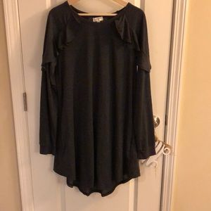 NWOT Charcoal gray tunic dress